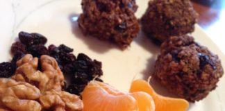 νόστιμη συνταγή για τρουφάκια βρώμης με σταφίδες