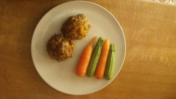 μπιφτέκια με κιμά και λαχανικά